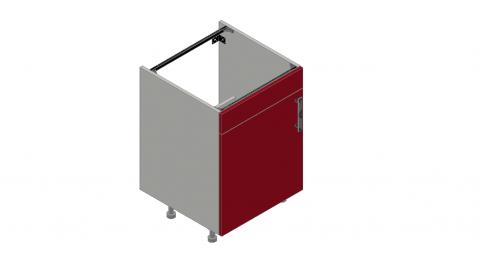 FOUCHARD - Meuble sous évier 1 porte + 1 faux tiroir