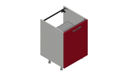 FOUCHARD - Meuble sous évier avec aménagement poubelles