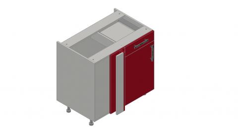 FOUCHARD - Angle retour tablettes avec tiroir