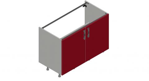 FOUCHARD - Meuble sous évier 2 portes (blanc)