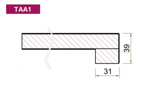 FOUCHARD - Tablette d'allège Stratifié HPL avec profil droit